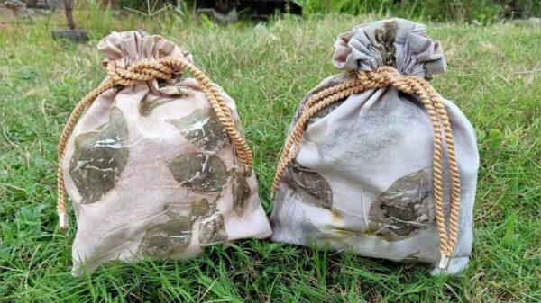 Pouch Ecoprint - Sabda Batik - Jombang, eMBe UMKM, UMKM GKJW.org