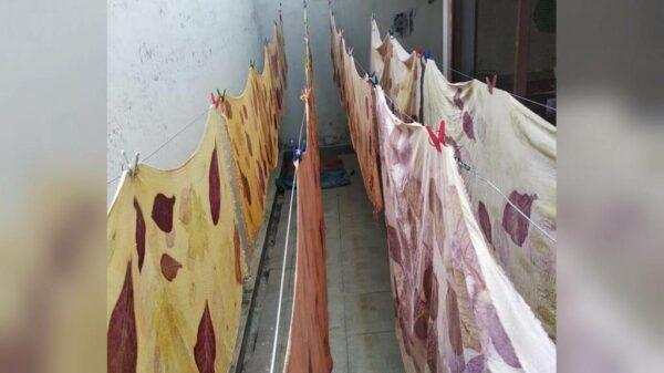 Sekilas Pembuatan Ecoprint - Sabda Batik - Jombang, eMBe UMKM, Gerakan Warga GKJW