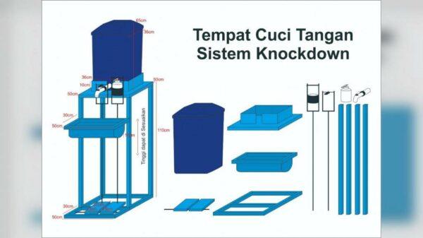 Wastafel Portabel dengan Pedal - Rungkut Surabaya, eMBe UMKM, GKJW.org