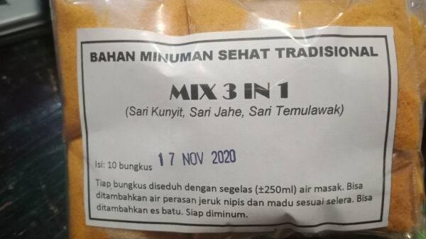 Mix 3 in 1 (Temulawak, Kunyit dan Jahe) - Minuman Sehat Tradisional Pandaan, eMBe UMKM, UMKM GKJW