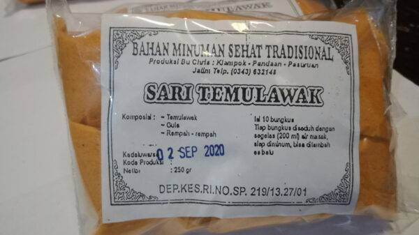 Sari Temulawak - Minuman Sehat Tradisional Pandaan, eMBe UMKM, UMKM GKJW.org