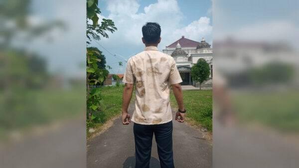 Hem Pria Ecoprint - Sabda Batik - Jombang, eMBe UMKM, GKJW.org