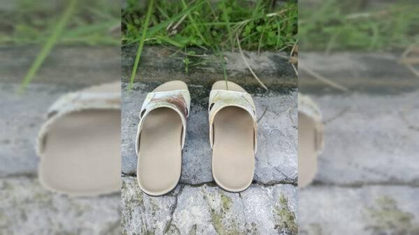 Sandal Ecoprint Pria #2 - Sabda Batik - Jombang, eMBe UMKM, GKJW