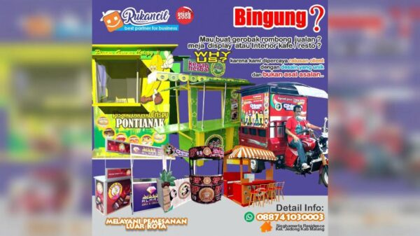 Jasa Pembuatan Gerobak, Stan dan Booth - Mulyorejo Malang, eMBe UMKM, UMKM GKJW.org