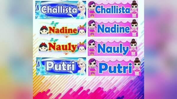 Stiker Nama Anak (Bocil) - Sukun, eMBe UMKM, UMKM GKJW.org