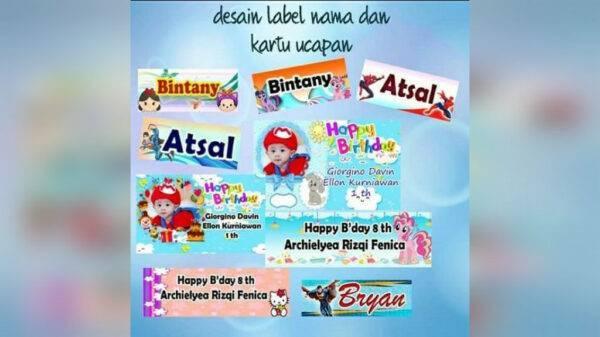 Stiker Nama Anak (Bocil) - Sukun, eMBe UMKM, UMKM GKJW