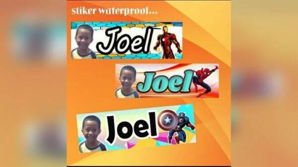 Stiker Nama Anak (Bocil) - Sukun, eMBe UMKM, GKJW